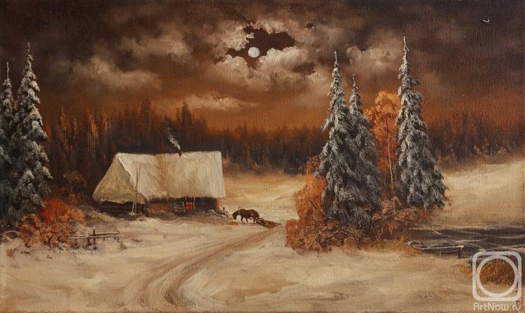 Лямин Николай. Лунная ночь, лошадка