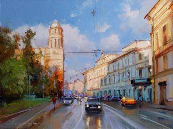 The evening is at hand. Moscow, Ilyinka street. Shalaev Alexey