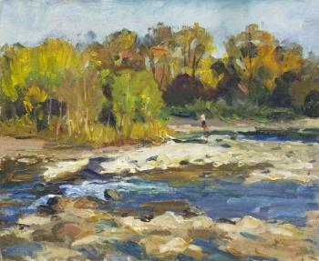 Autumn on the river Belaya. Klyuzhin Gennadiy