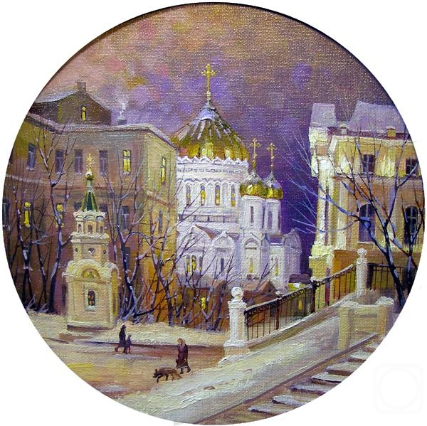 Gerasimov Vladimir. Moscow. Znamenka (from the Vagankovsky hill)