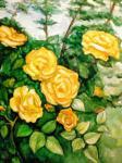 Хубеджева Наталия. Желтые розы
