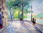 """Картина """"Солнце на набережной Парижа"""". Михальская Екатерина"""