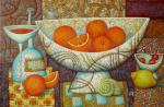 Still life with oranges. Sulimov Alexandr