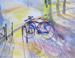 """Картина """"Велосипеды на бульваре"""". Михальская Екатерина"""