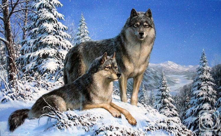 волк с волчицей картинки