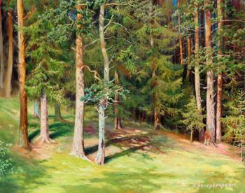 Forest (based on the picture of Shishkin). Belozerova Oksana