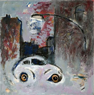 "Barsukov Denis. ""Landscape with a car-eyes and a lantern"""