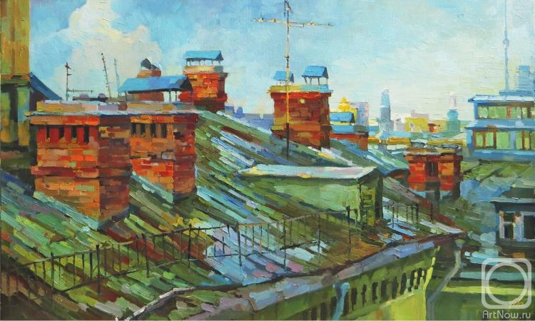 Чижова Виктория. Старые московские крыши