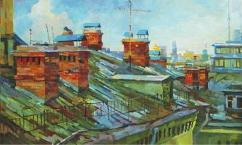 Old Moscow roofs (Крыши). Chizhova Viktoria
