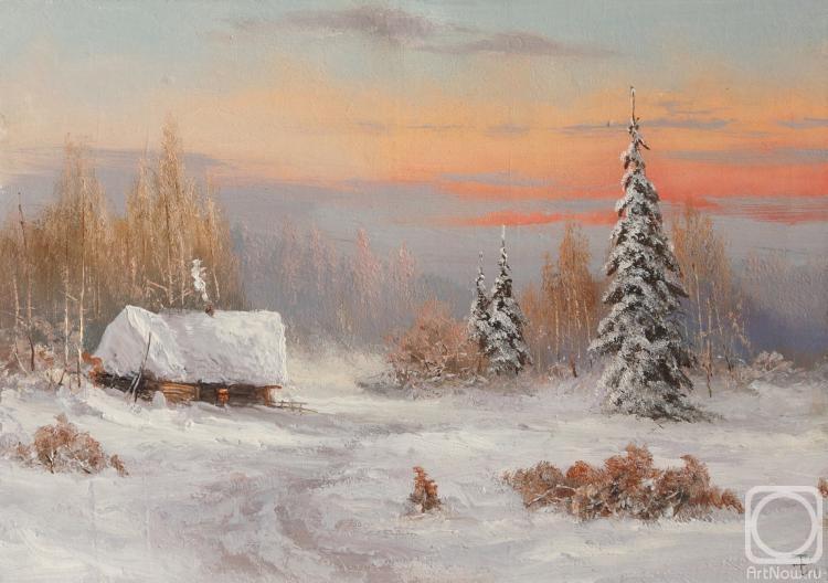 Лямин Николай. Зима, этюд