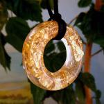 Pendant with gold pottery inside. Bacigalupo Nataly