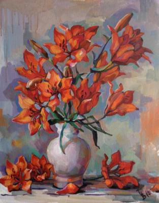 Volvak Inna. Orange lilies