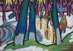 """Картина """"Тверь. В парке у Речного вокзала"""". Овчинникова Александра"""