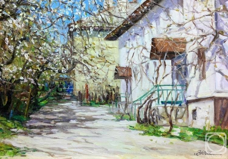 Попова Виктория. Весенний дворик