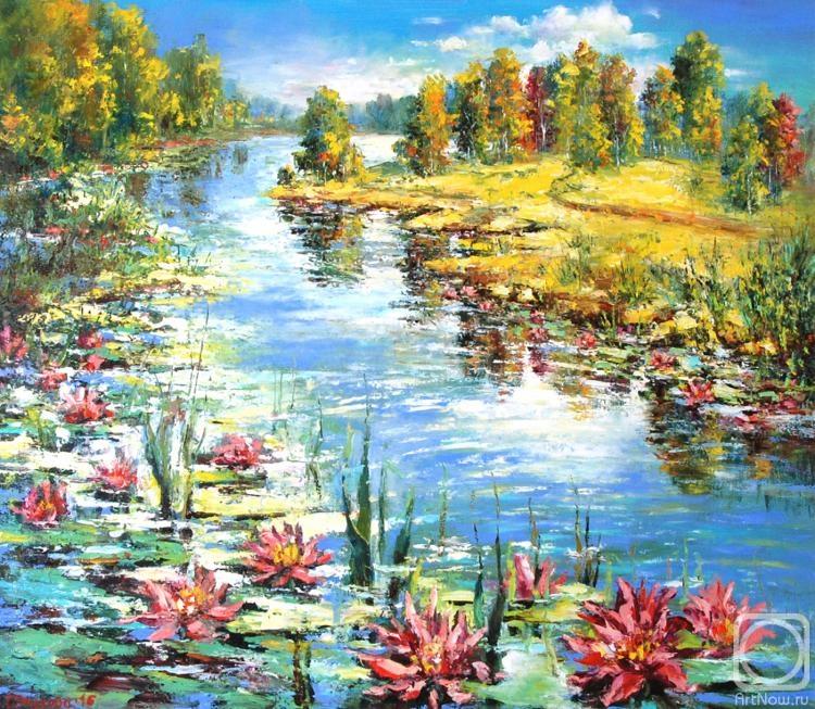Чиркова Ольга. Лесное озеро