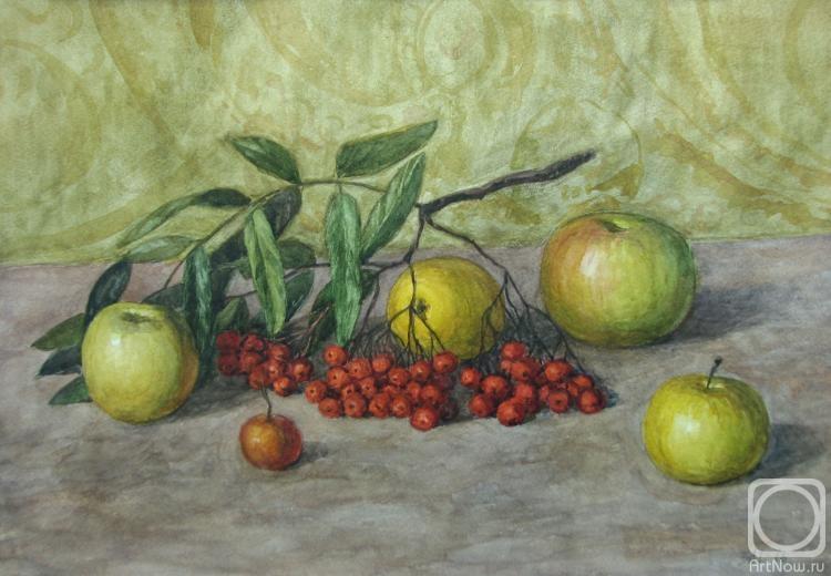 Сухоруков Александр. Рябина и яблоки