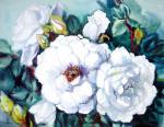 Михальская Екатерина. Белые розы в саду