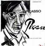 Наброски на страницах книги Korner Eva *Picasso - 1