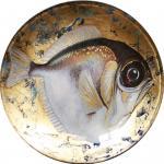 Декоративная тарелка Белая Рыба. Лычагина Оксана