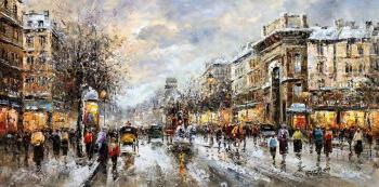 "Vevers Christina. Landscape of Paris, by Antoine Blanchard ""A view of the Porte de Saint Denis"""