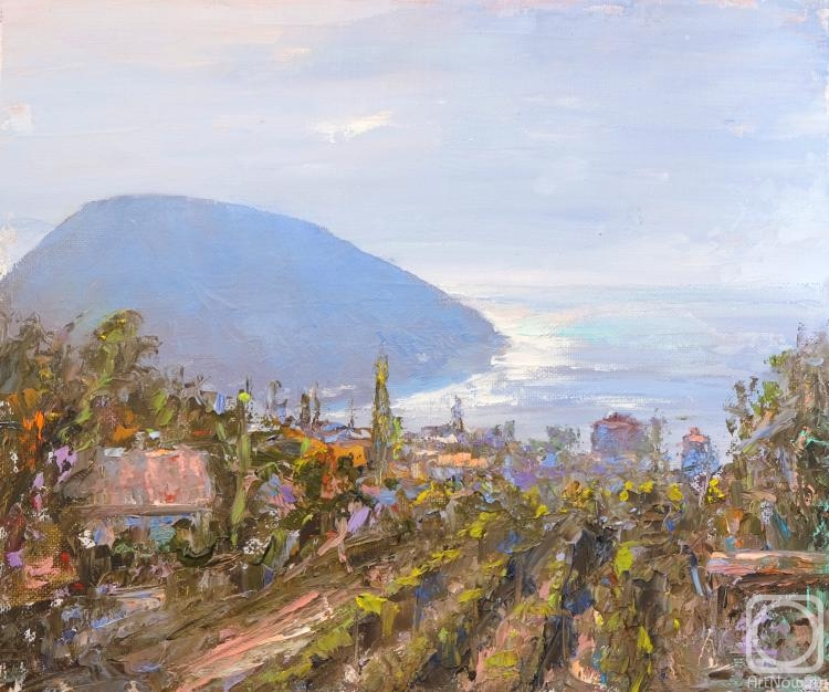 Solovev Alexey. Ayu-Dаg in the morning. Vineyards