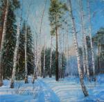 Шайкина Наталия. Березовый лес зимой