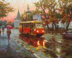 Волков Сергей. ...Из осени, из золотых дождей бежит трамвай...