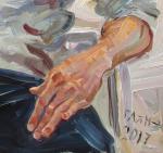 Добровольская Гаянэ. Фрагмент портрета Росена Бакалова, левая рука