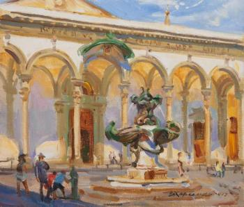 Noon in the square of St. Annunziata. Kharchenko Victoria