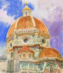 Kharchenko Victoria. Dome of the Duomo. Leaving into the clouds
