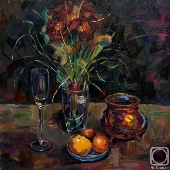 Silaeva Nina. Still life. While the rain