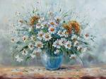 Generalov Eugene. Summer bouquet with chamomiles
