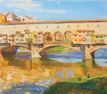 The morning Ponte Vecchio. Kharchenko Victoria