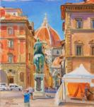 Kharchenko Victoria. View of the Duomo from the square of St. Annunziata