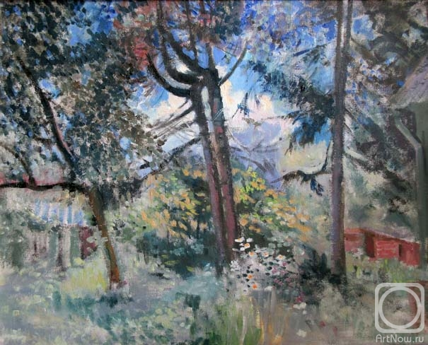 Malyusova Tatiana. Trees in the country