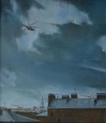 Cold sky above the city. Kruglov Roman