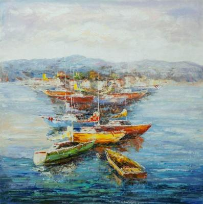 The Mediterranean. Sailboats and boats. Vevers Christina