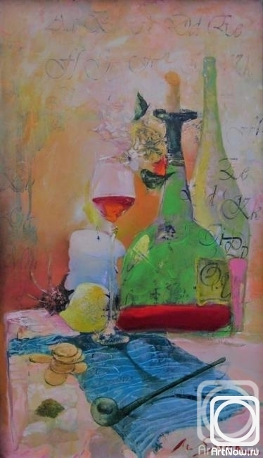 Panchenko Viktor. Still life with a pipe