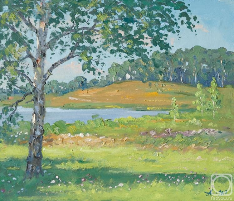 Alexandrovsky Alexander. Birch, summer day