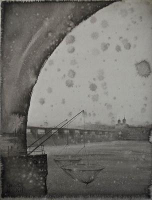 Dream 72. Catching the first snow on the Volkhov River. Eldeukov Oleg