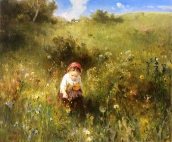 Knaus. Girl in the field. Komarova Elena