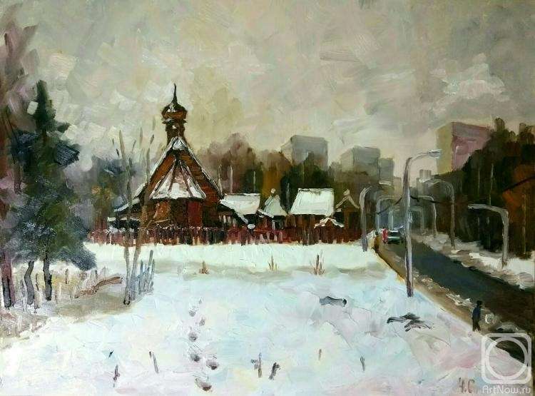 Silaeva Nina. Zelenograd. Temple Filaret the Metropolitan of Moscow in the winter