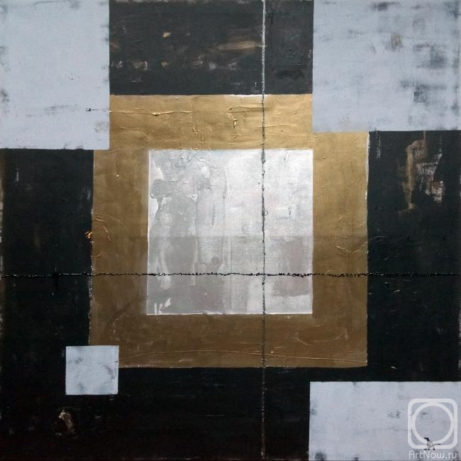 Afanaseva Dariya. Black Square Abstract