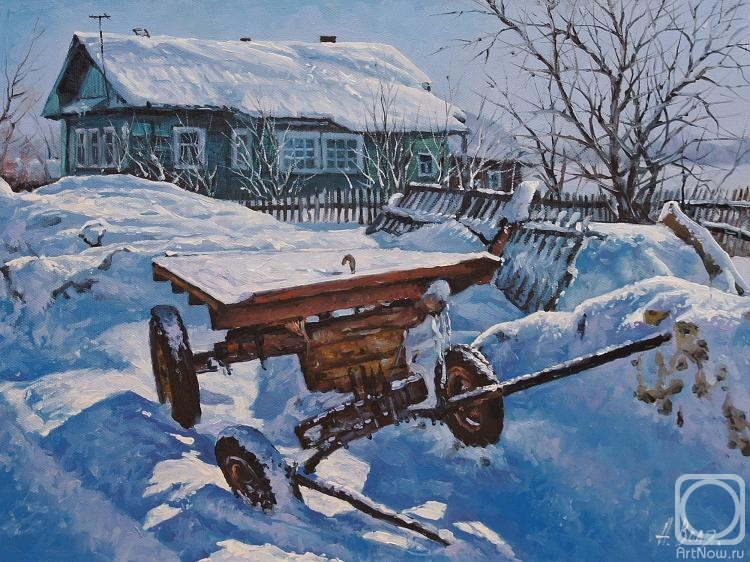 Volya Alexander. Winter mood. The cart
