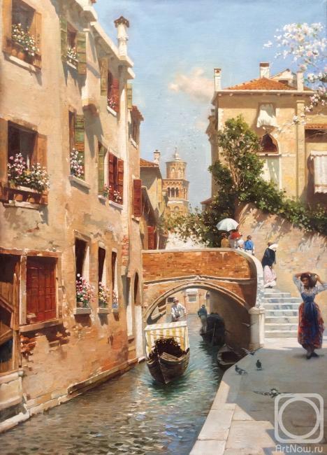 Картина маслом на холсте. Мамазияев Алик. Венеция. Полдень