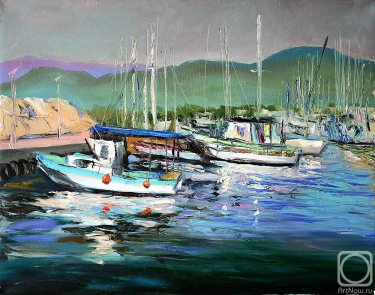 Stepanov Pavel. Port to Latchi. Cyprus