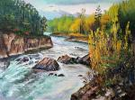 Stepanov Pavel. Kamchatka. District Of Esso. The River Is Fast