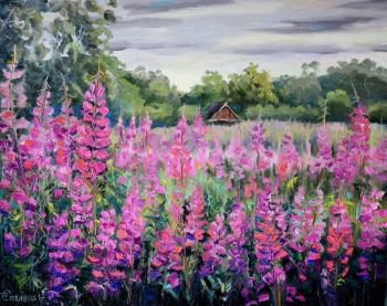 In the thickets of willow-herb. Kamchatka. Stepanov Pavel