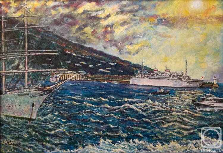 Klenov Sergey. Sunrise in the Yalta port