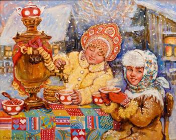 Simonova Olga. Evening tea drinking